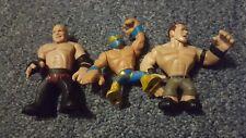 Lot of Three WWE Rumblers Action Figures - Kane John Cena and Sin Cara