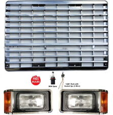 New Chrome Grille and Headlight Set FOR 2000 2001 2002 2003-2017 Mack CH613