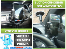 Mobile Phone Holder Windscreen Suction Mount + Air Vent Cradle for All Phones
