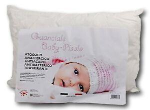 Cuscino Letto culla lettino Guanciale baby Fibra Anallergica