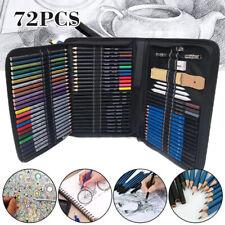 72pcs Sketch Pencils Set Sketching Graphite Charcoal Pencil Art Artists Kit