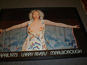 LARRY RIVERS - 1973 Exhibition Poster - Signed & Numbered - Nice Frame