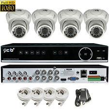 CIB True HD 8CH 1080P DVR system 1TB HDD 4X1080P 2.1MP Metal Vandal Dome Camera