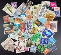 50 GB Used Stamps - All Different Selection of Stamps, Off Paper, Victoria On