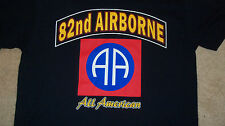 """82nd AIRBORNE """"All American"""" T-Shirt BIG LOGO US ARMY Division Fort Bragg Size M"""