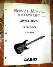 CASIO PG-380 / PG380  SERVICE / REPAIR  MANUAL only [w/ schematics]