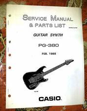 CASIO PG-380 / PG380  SERVICE / REPAIR  MANUAL w/ CLEAR schematics