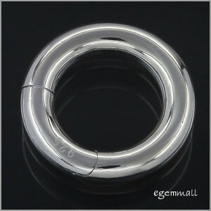 Sterling Silver Necklace Pearl Shortener Enhancer Push Clasp ap. 20mm #51712
