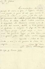 Lettera Ottocentesca su Carta con Filigrana Artistica 1821