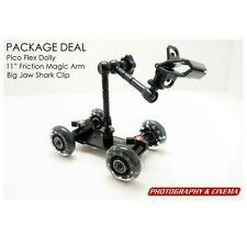 "P&C Pico Flex Table Dolly Kit - 11"" Friction Arm, Shark Clip, free carry pouch"