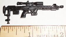 BIN A11 G I JOE Accessory Black Sniper Rifle 2003 Wide Scope Black-Out -4 for $1