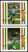 GRENADA FOOTBALL WORLD CUP ITALY 1990 PAIR COMMEMORATIVE MINIATURE SHEETS MNH