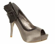 BNWB Barratts Womens Mink Snake Peep Toe Court Shoes Size 8