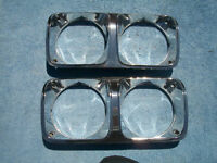 1970 71 72 73 74 DODGE PLYMOUTH MOPAR HEADLIGH RINGS