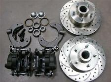 """Mustang II 2 Front 11"""" Drilled Rotor Upgrade Disc Brake Kit Chevy No Spindle"""