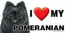 "MAGNET--I (Heart) Love My POMERANIAN-Black 4"" X 8"" Auto, Fridge, Locker Magnet"