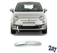 FRONT BUMPER LOWER CHROME MOLDING TRIM RIGHT COMPATIBLE WITH FIAT 500 2007-2015