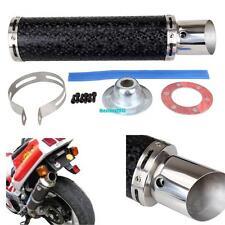 50mm Fibre Carbone Moto Silencieux échappement Tuyaux  Exhaust Muffler Pipe