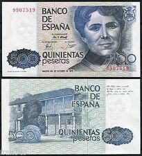 BILLETE 500 PESETAS 1979 ROSALIA DE CASTRO Sin Serie  SC / SPAIN Pick 157 UNC