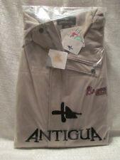 XXXL Mens Antigua Long Sleeve Atlanta Braves Embroidered Logo Full Zip Jacket