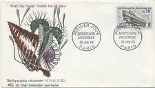FRANCE FDC - 1368 1 BATHYSCAPHE ARCHIMEDE - 26 Janvier 1963 - LUXE - HIPPOCAMPE