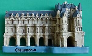 Souvenir Fridge Magnet Chenonceau Chateau Palace Loire Valley France