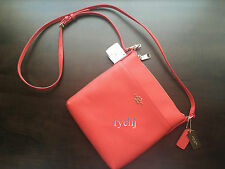 NWT COACH EMBOSSED TEXTURED LEATHER NORTH/SOUTH SWINGPACK WATERMELON 52348