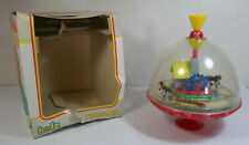 LBZ BOLZ KREISEL GERMANY SPINNING TOP TOUPIE PANORAMA WATERMILL TIN TOY WORKS