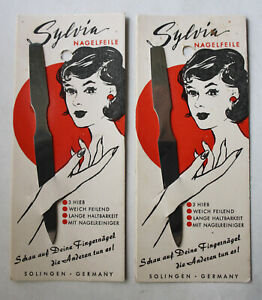 1X RARE VINTAGE 70'S SYLVIA SOLINGEN NAIL FILE CARE GERMANY NEW NOS !