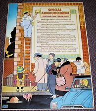 "YELLOW PAGES GRAHAM PERCY ILLUSTRATED ""SPECIAL ANNOUNCEMENT"" PROMO POSTER 1980"