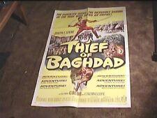 THIEF OF BAGHDAD 1961 ORIG MOVIE POSTER STEVE REEVES