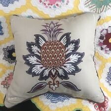 "CROSCILL LAURYN Medallion 16 X 16"" Decorative Pillow - NEW"