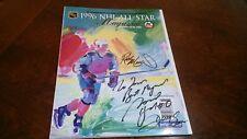 1996 NHL All Star Game 3 Autographs on Program/Magazine Cover