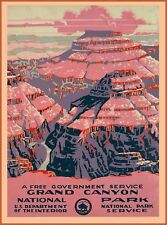 1938 Grand Canyon National Park Arizona United States Travel Art Poster Print