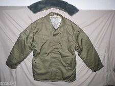 Größe 60 = XXXL  NVA Winter Watte FDA Felddienst Jacke Strichtarn mit pelzkragen