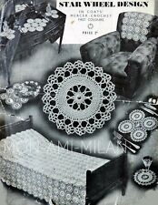 Vintage 1930s CROCHET PATTERN How To Make an HEIRLOOM BEDSPREAD/THROW & MATS