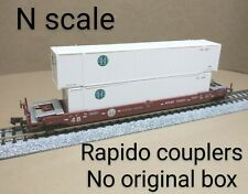 BNSF 48' double stack well car N scale Con Cor COFC intermodal 53' container RR