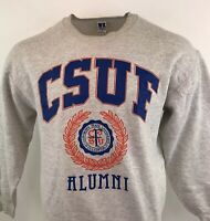 Vintage Russell Athletic Jumper CSUF Alumni Spell Out Retro Sz XL Mens USA Made