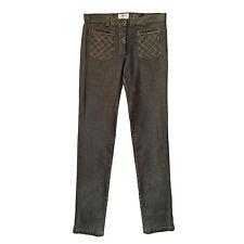 CHANEL Sexy Stretch Gray/Gold Slim Fit Jeans  sz. 36 FR
