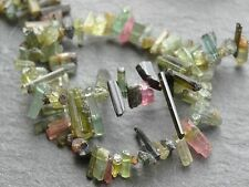 "FREEFORM NATURAL TOURMALINE STICKS, 3x6mm - 3x10mm but variable, 8"", 80+ beads"
