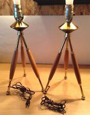 Set Of 2 Mid Century Retro Table Lamps
