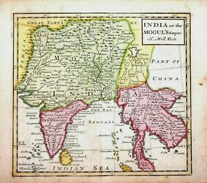 INDIA - THAILAND - INDIA OR THE MOGUL'S EMPIRE BY H.MOLL 1723