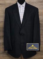 Brooks Brothers Men Silk Linen Wool Navy Blue 2-BTN Blazer Sport Coat Jacket 41R