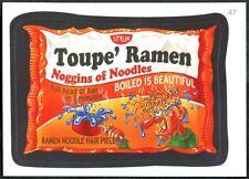 Toupe' Ramen #47 Wacky Packages Series 7 Topps 2010 Sticker Trade Card (C1770)