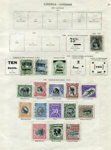 LIBERIA: 1901-1910 Examples - Ex-Old Time Collection - 2 Sides Page (41636)