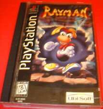 RARE PLAYSTATION 1  RAYMAN LONG BOX COMPLETE w/ MANUAL VG Condition tested