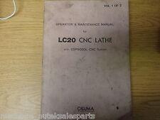 OKUMA LC20 CNC LATHE W/ OSP5000L OPERATION & MAINTENANCE MANUAL_2147-E_2147E