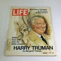 VTG Life Magazine: December 1 1972 - Harry Truman by Margaret Truman on Cover