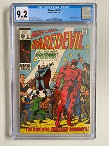 Daredevil #62 CGC 9.2 - White Pages! - Nighthawk Appearance