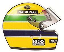 Ayrton SENNA Pilot helmet Sticker  75mm x 65mm